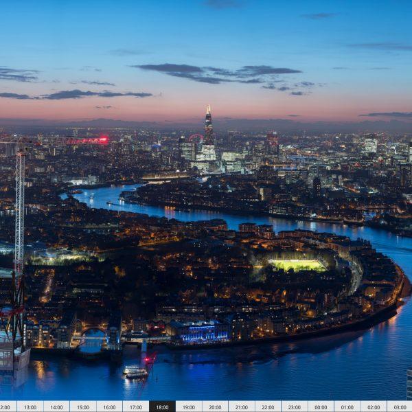 Poklatkowa panorama Londynu złożona z6240 zdjęć zrobionych Nikonem D850 ma 7,3 gigapikseli