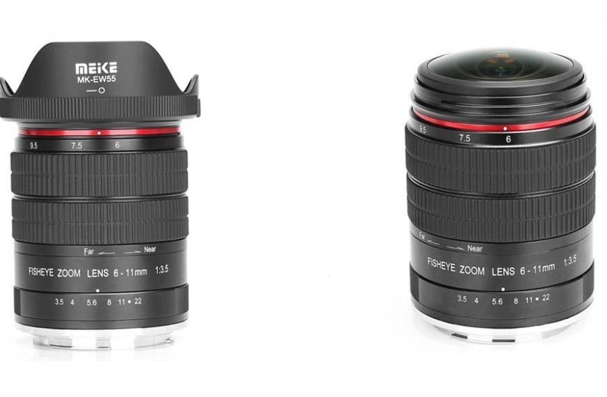 Firma Meike wprowadza zoom typu rybie oko 6-11 mm f/3,5 do lustrzanek Canona i Nikona z matrycą formatu APS-C