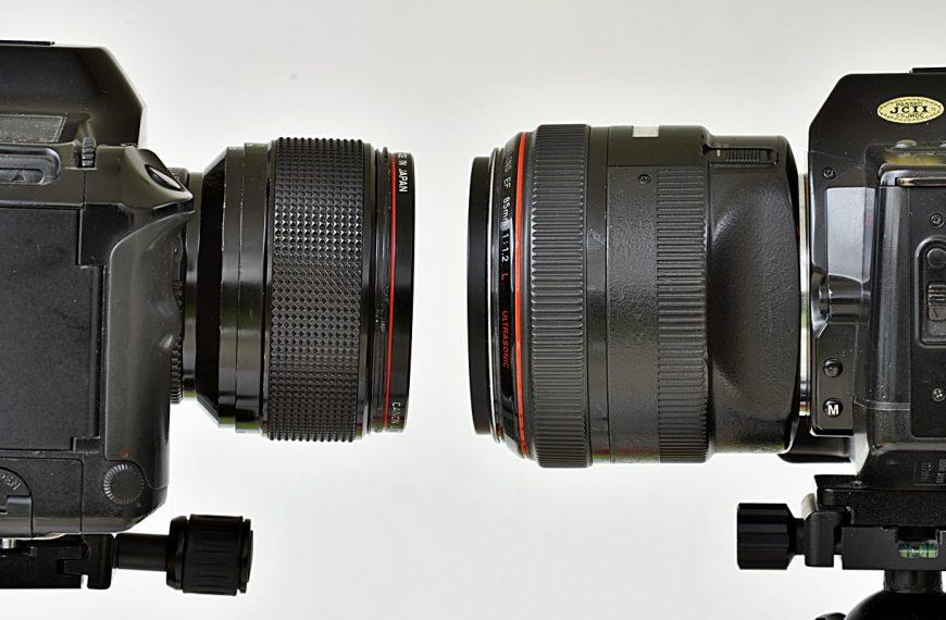 Canon FD 85 mm f/1,2L, Canon EF 85 mm f/1,2L USM: czterdzieści lat minęło, czyli ewolucja superjasnego obiektywu portretowego (EN)