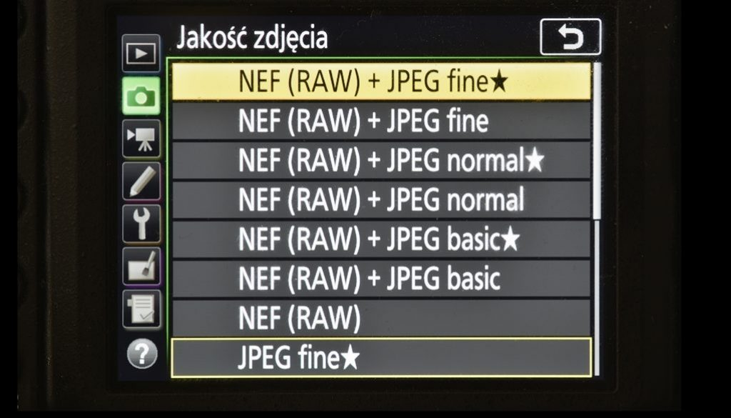 NEF+JPEG