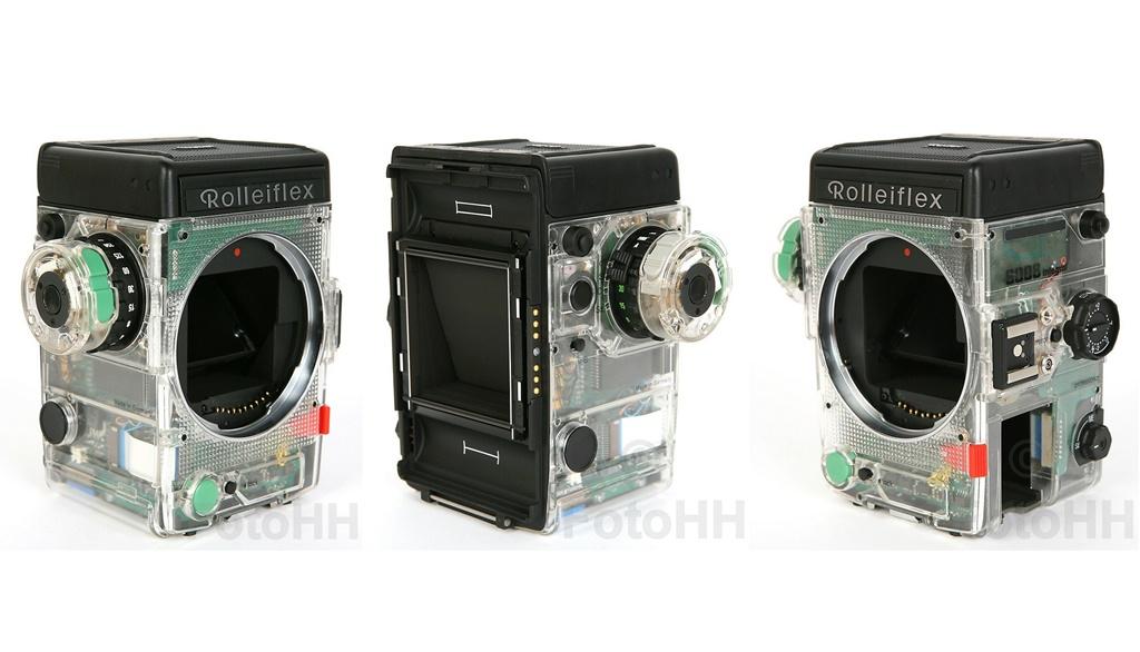 Przezroczysty prototyp aparatu Rolleiflex 6008 Integral Professional naaukcji naebayu