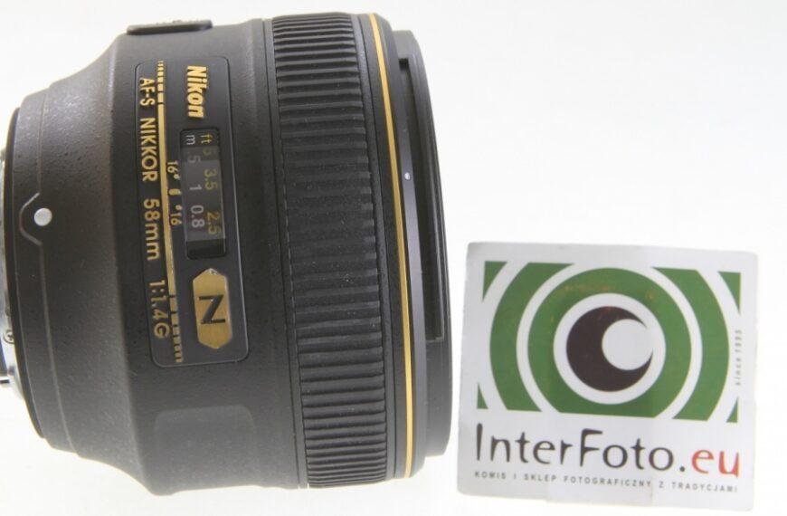 NIKON AF-S 58 mm f/1,4G – takzły jak uważa większość, czytakdobry jak myśli garstka?