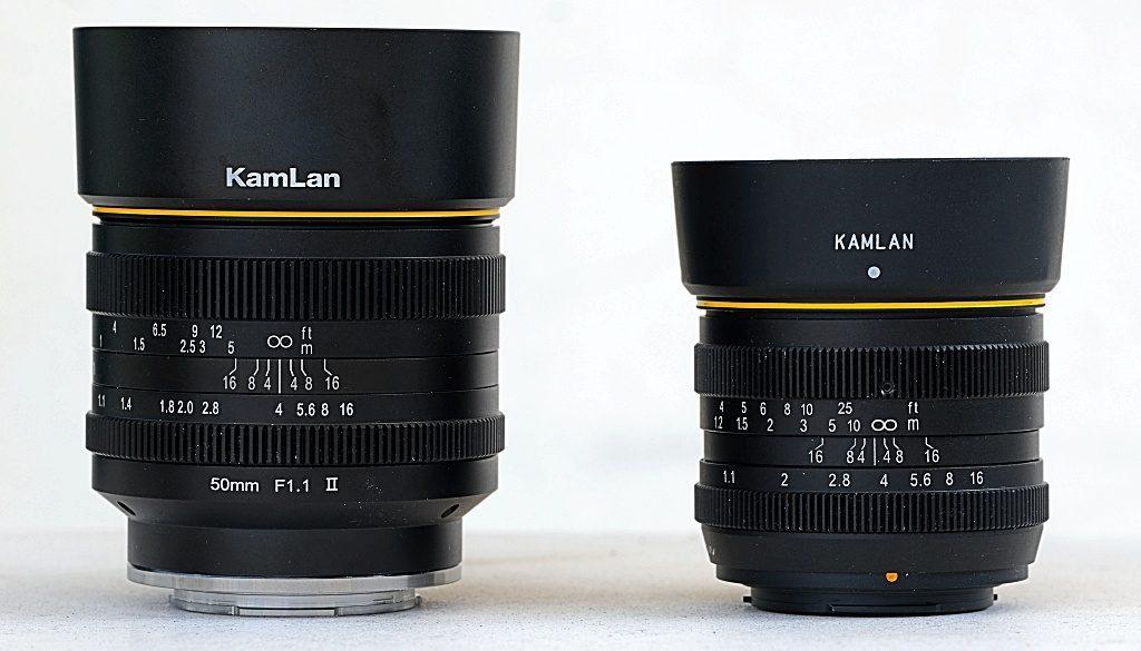 Kamlan-50mm-f1.1-V1-and-V2