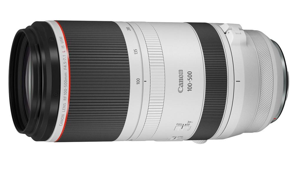 Canon RF 100-500 mm F/4,5-7,1L IS USM dopełnoklatkowych bezlusterkowców zmocowaniem RF