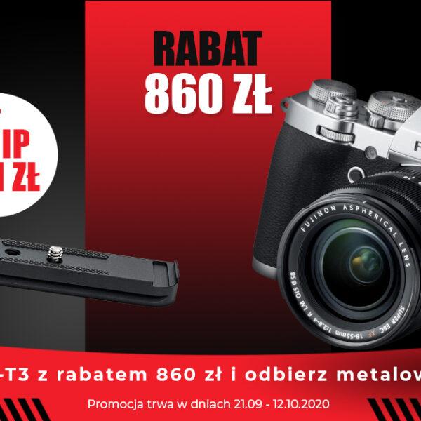 KUP APARAT X-T3 ZRABATEM 860zł, AMETALOWY GRIP DOSTANIESZ ZAZŁOTÓWKĘ!