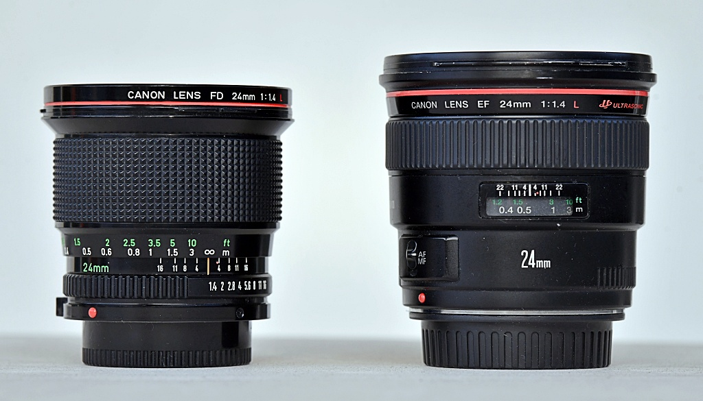 Canon kontra Canon: FD 24 mm f/1,4L iEF 24 mm f/1,4L