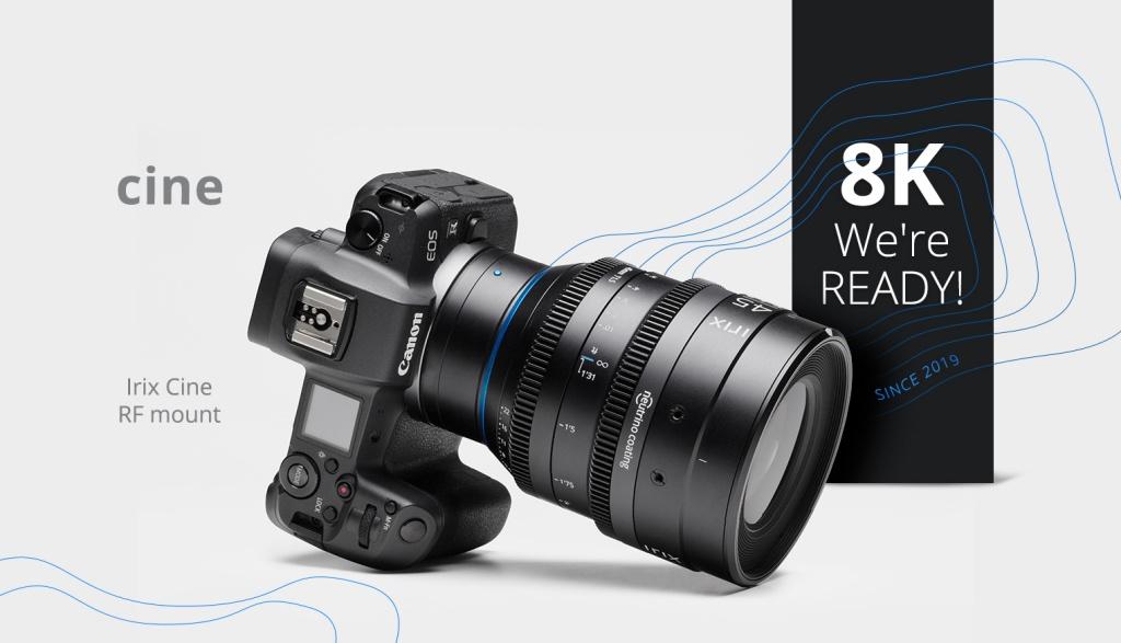 Obiektywy filmowe IRIX wmocowaniach Canon RF, Nikon ZiLeica L