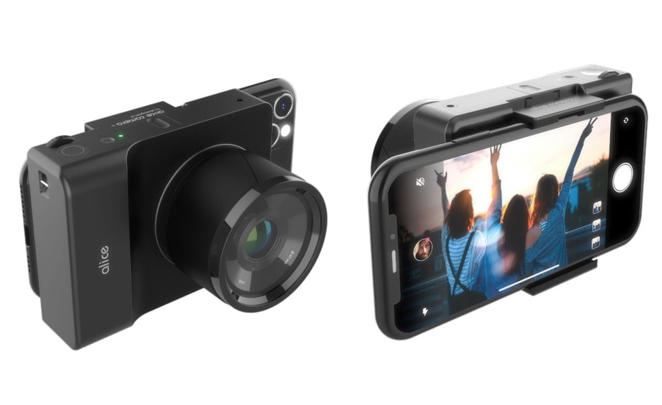 """Koncepcyjny aparat MFT """"Alice"""": sztuczna inteligencja smartfona połączona zwymienną optyką"""