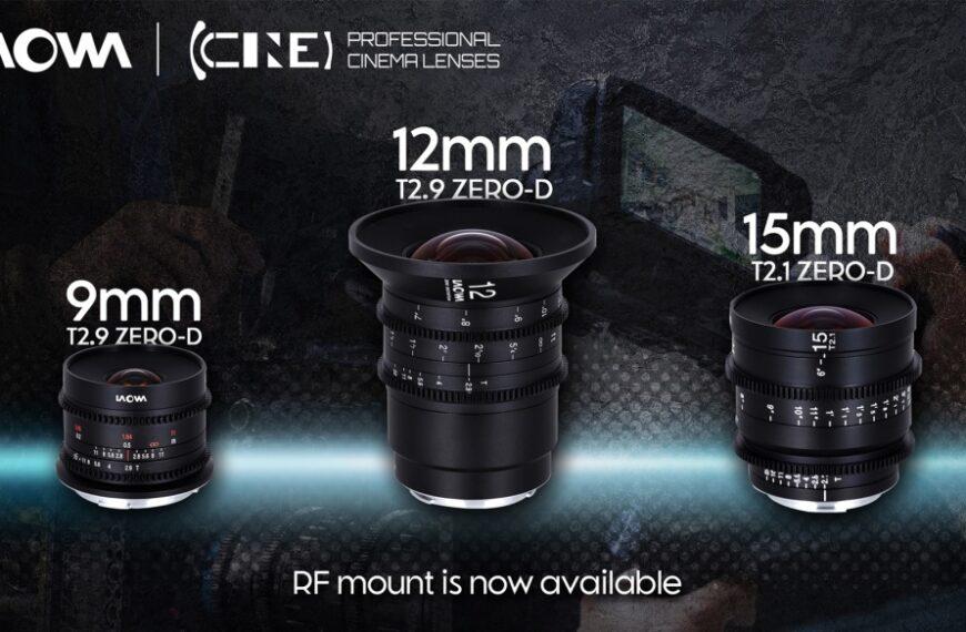 Firma Venus Optics wypuszcza swoje filmowe stałki Laowa 9 mm T2.9, 12 mm T2.9 oraz15 mm T2.1 zmocowaniem Canon RF