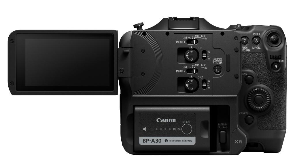 Kamera Canon EOS C70 wkorpusie przypominającym bezlusterkowca