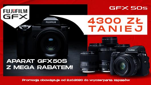 Mega promocja naśredni format odFUJIFILM – GFX50S zrabatem 4300zł