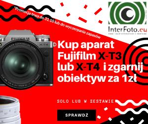 Kup aparat Fujifilm X-T3 lub X-T4 solo lub wzestawie izgarnij obiektyw za1zł