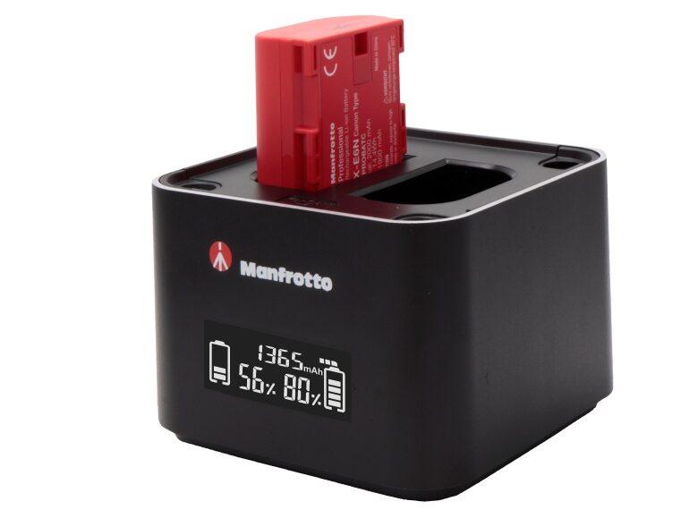 Akumulatory ipodwójna ładowarka Manfrotto dla aparatów Canon iNikon