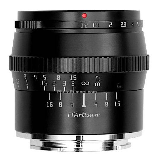 TTartisan 50 mm f/1,2