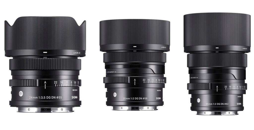 Obiektywy Sigma C 24 mm f/3,5 DG DN, Sigma C 35 mm f/2 DG DN iSigma C 65 mm f/2 DG DN