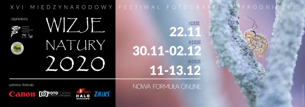 """Festiwal fotografii przyrodniczej """"Wizje Natury 2020"""" wtym roku online"""