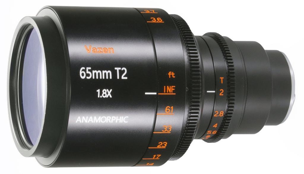 Anamorficzny obiektyw Vazen 65 mm T/2 1.8x dla systemów MFT