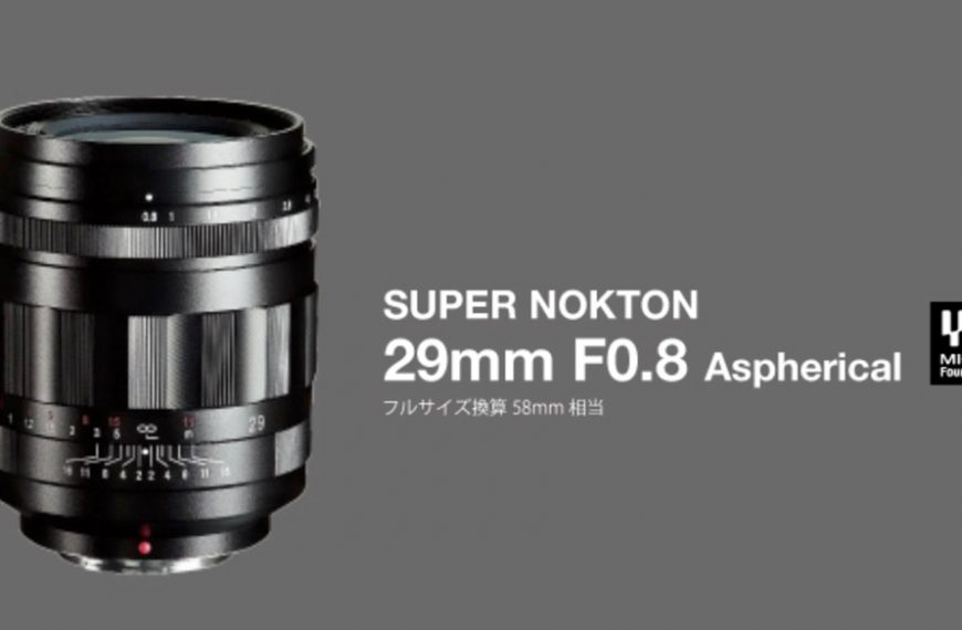 Obiektyw Cosina Voigtlander Super Nokton 29 mm F/0,8 dla systemów MFT