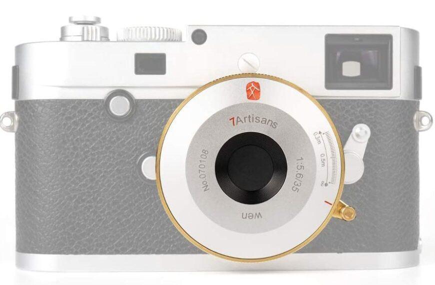 Złoty obiektyw naleśnikowy 7Artisans 35 mm F/5,6 wmocowaniu Leica M