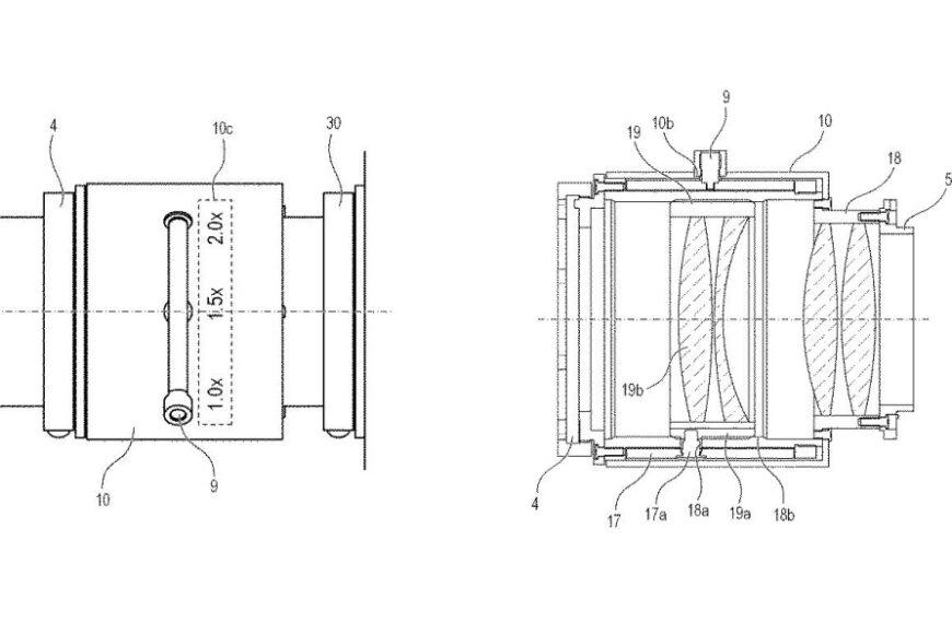 Patent Canona: telekonwerter ozmiennym powiększeniu 1,0-2,0x zestabilizacją obrazu ifiltrem neutralnym szarym ozmiennej gęstości
