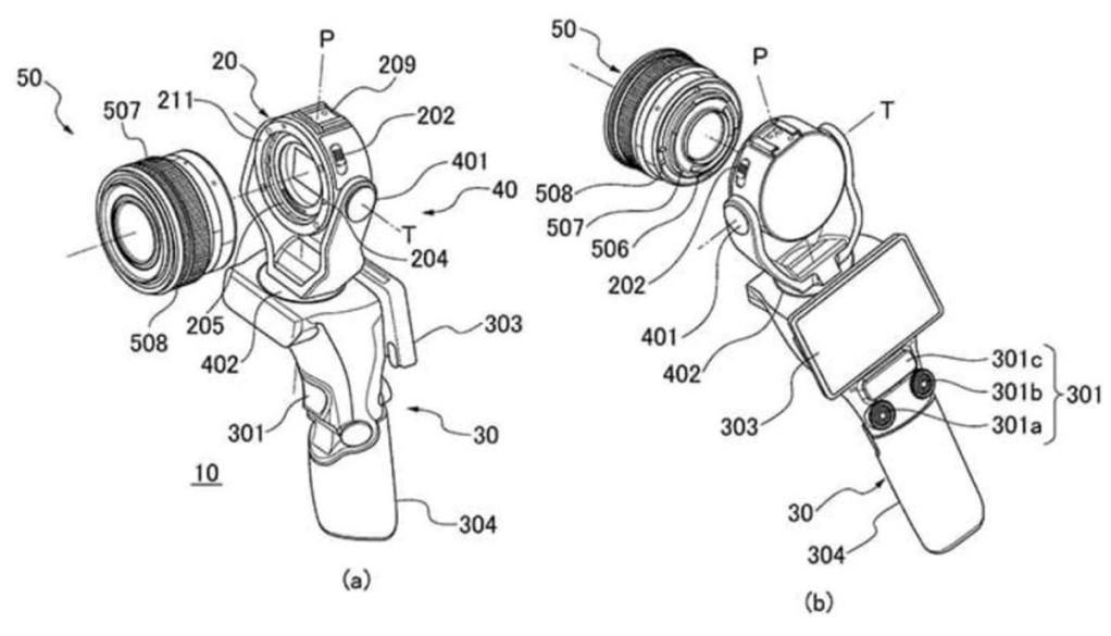 Patent Canona naaparat zgimbalem