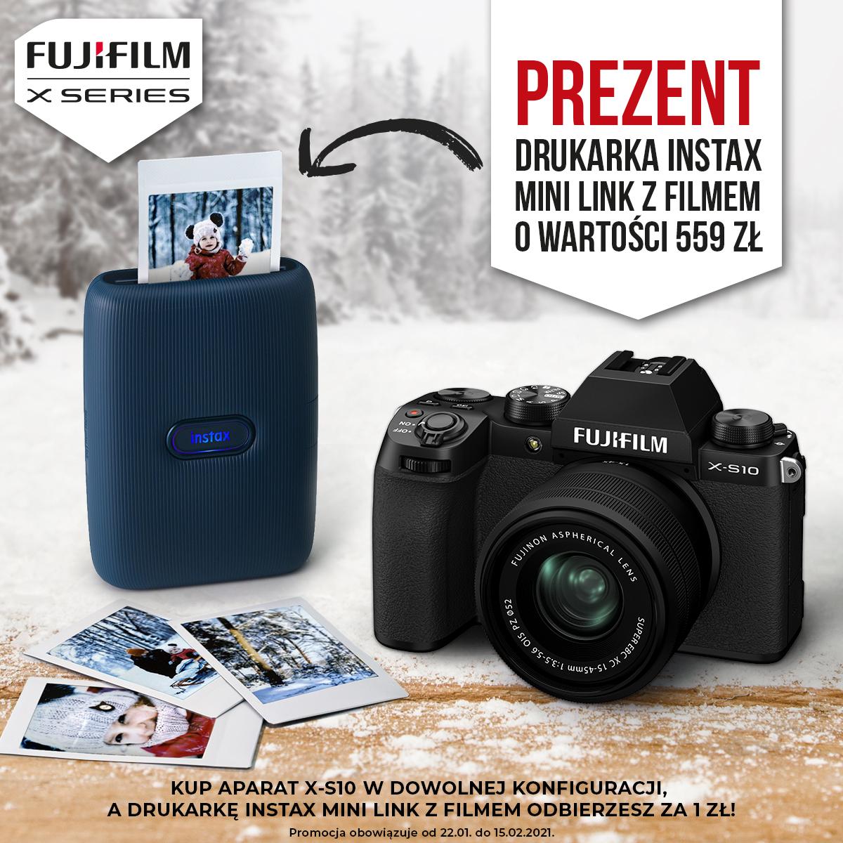 fujifilm x-s10, instax mini link,