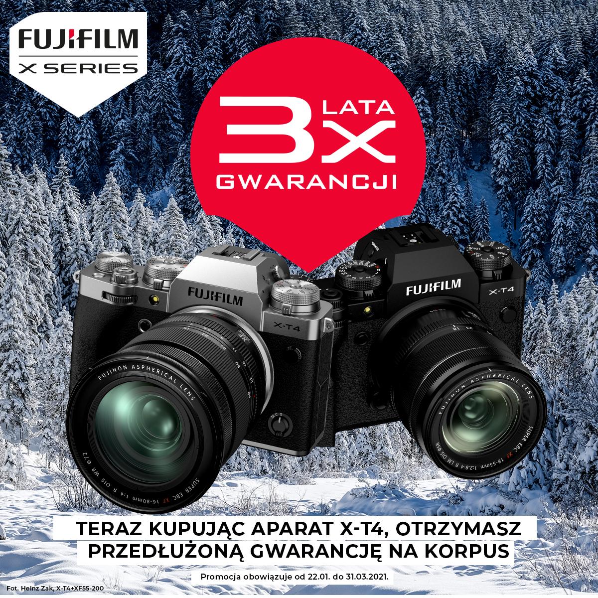 fujifilm x-t4, wydłużona gwarancja x-t4