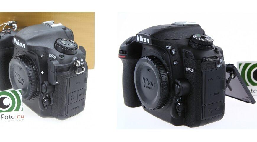 Nikon D7500 kontra Nikon D500
