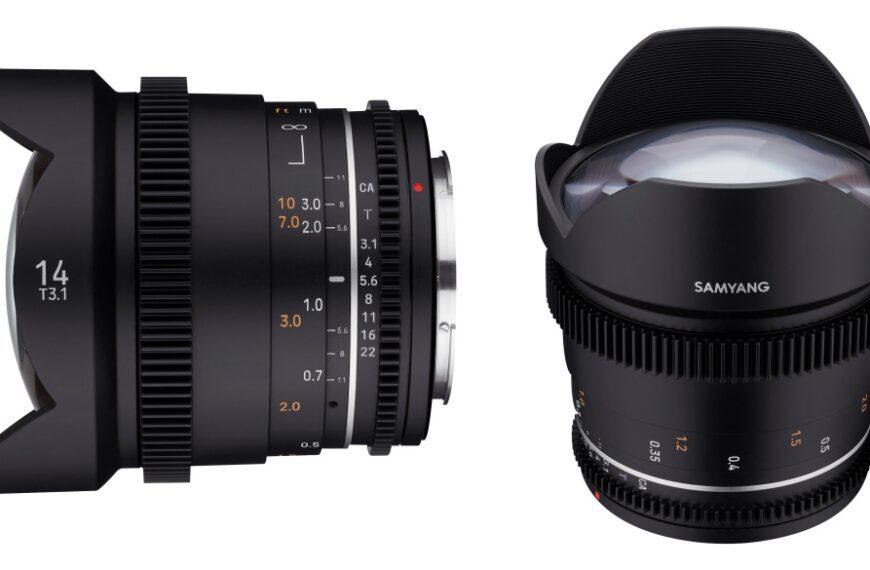 Pełnoklatkowy Samyang 14 mm T3.1 dodany dolinii obiektywów VDSLR MK2