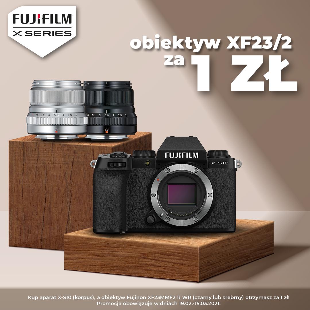 x-s10, 23mm za1zł, fujifilm, x-s10