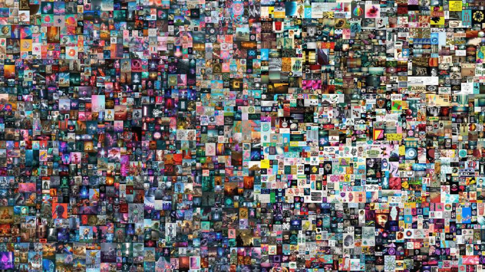 Token NFT składający się z5000 cyfrowych obrazów sprzedany zaprawie 70 milionów dolarów amerykańskich