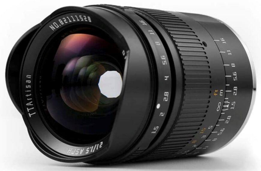 Obiektyw TTArtisan 21 mm F/1,5 teraz również dostępny wmocowaniach Nikon ZiSony E
