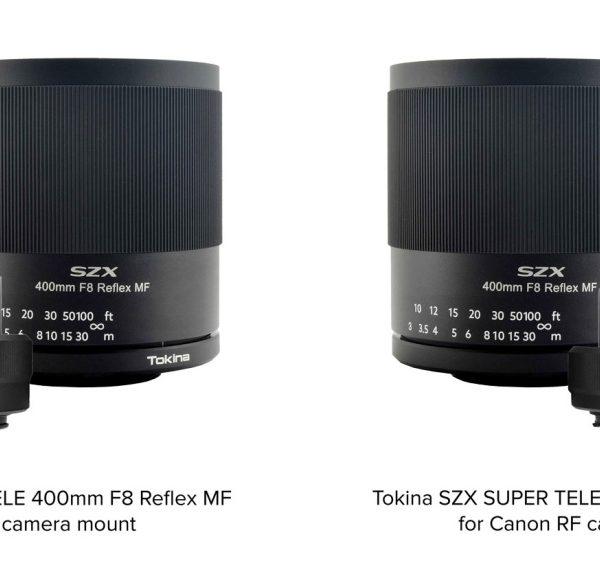 Obiektyw lustrzany Tokina 400 mm f/8 będzie teraz dostępny również wmocowaniach Canon RF, Nikon Z