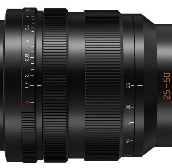 Planowany obiektyw Panasonic Leica DG 25-50mm F/1.7 dla systemu micro 4/3