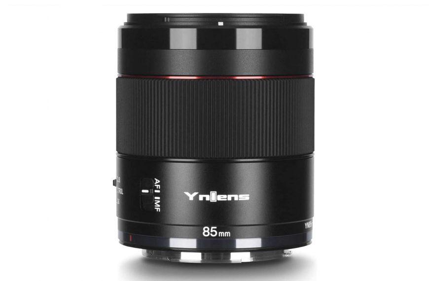 Obiektyw zautofokusem Yongnuo YN 85mm F1.8R DF DSM dobezlusterkowców Canon EOS R