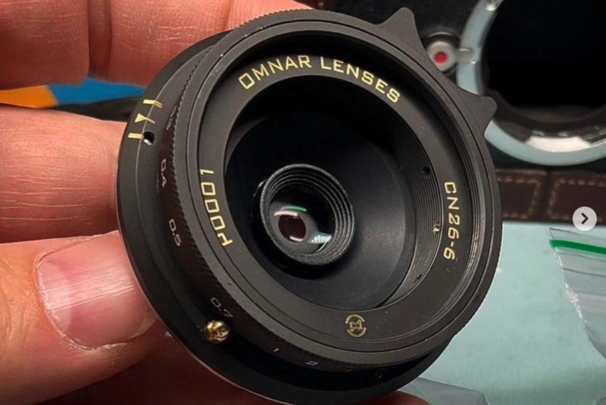 Firma Omnar Lenses pokazuje swój pierwszy obiektyw – 26mm F6 wmocowaniu Leica M – zrobiony zsoczewek kompaktu Canona
